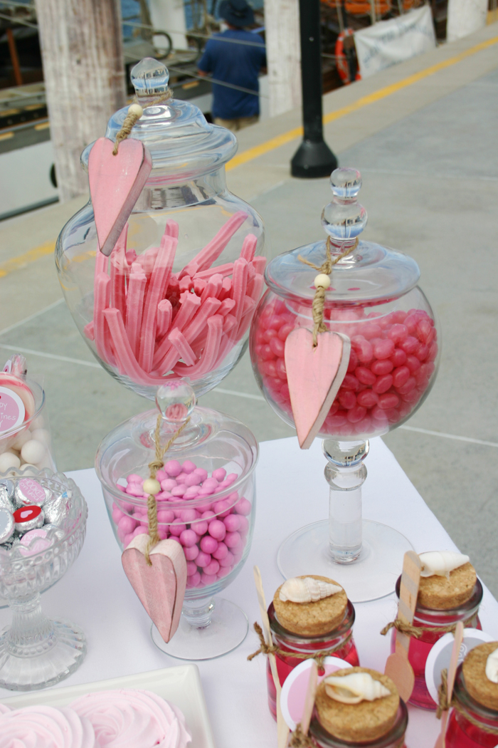 message in a bottle valentines party treats