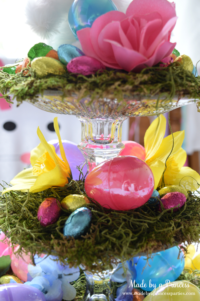 budget friendly easter ideas centerpiece detail