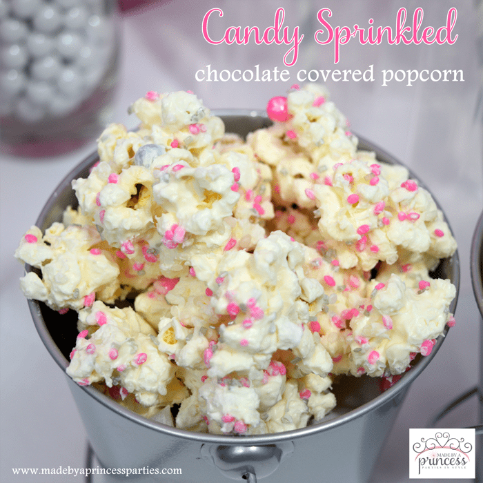 Candy Sprinkled Chocolate Covered Popcorn