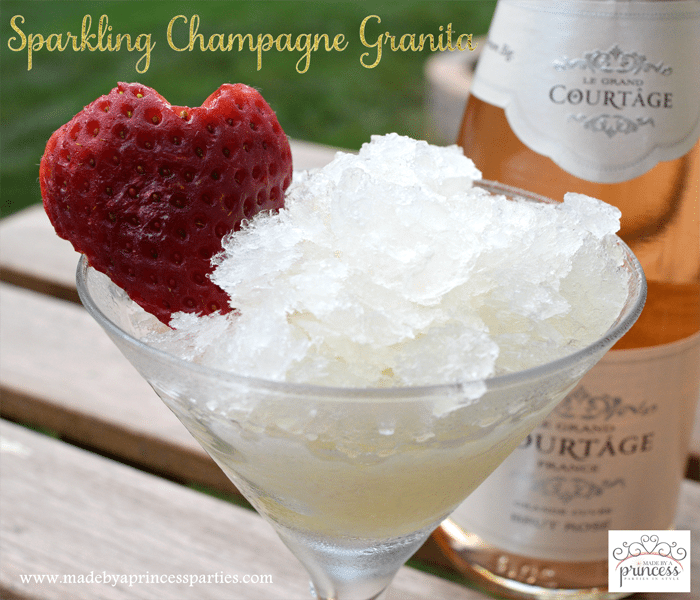 sparkling champagne granita with honey recipe