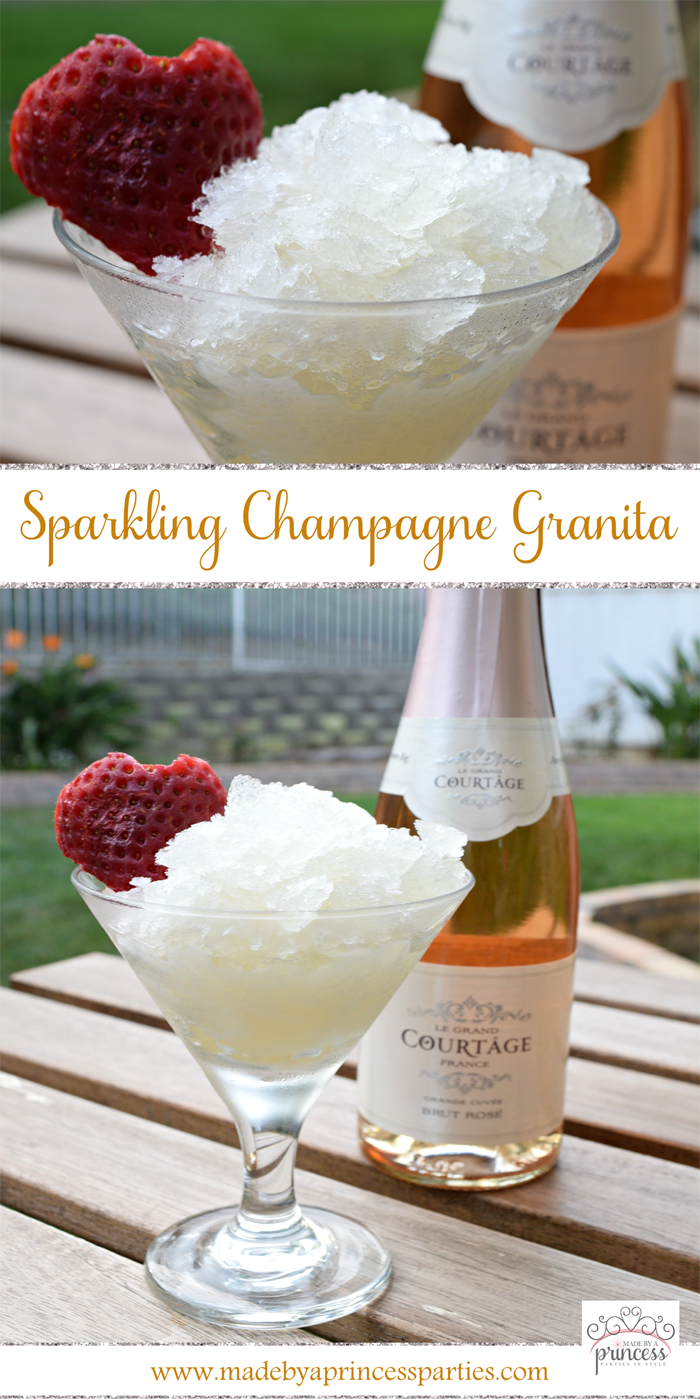 sparkling champagne granita with honey recipe pin it