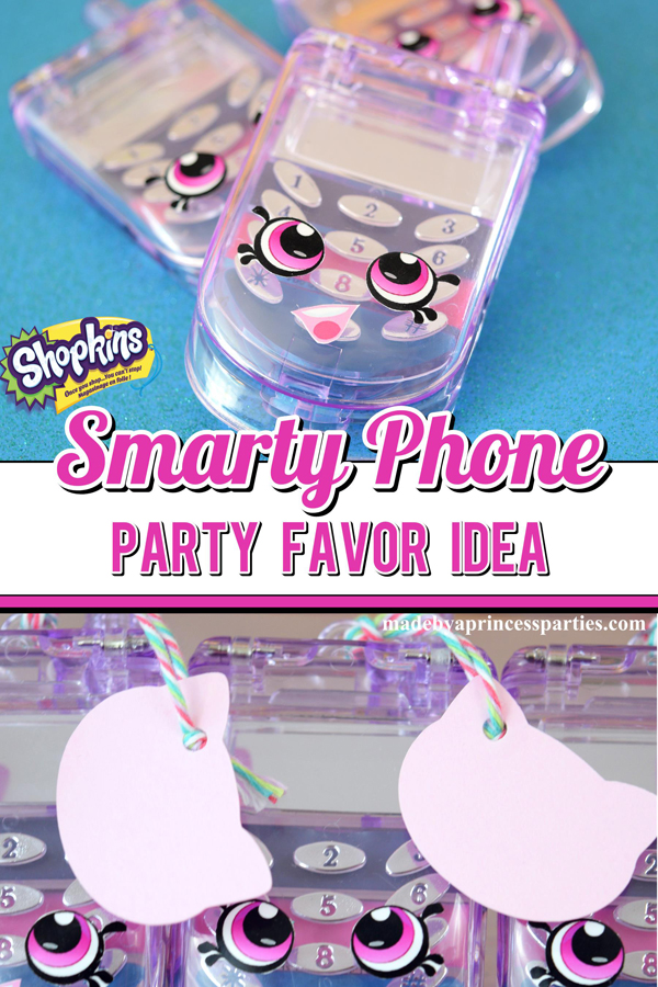 Cellphone Lip Gloss makes the perfect Shopkins Smarty Phone Party Favor. Download the free stickers @madebyaprincess