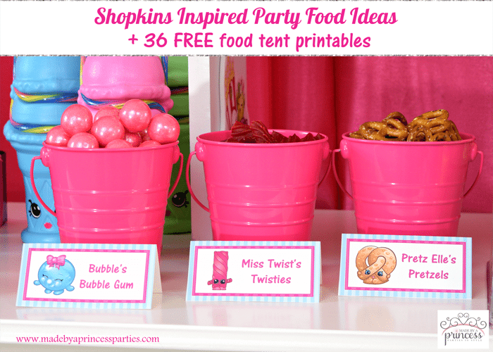 image about Printables Food referred to as Shopkins Encouraged Occasion Food items Plans Cost-free Printables - Intended by way of
