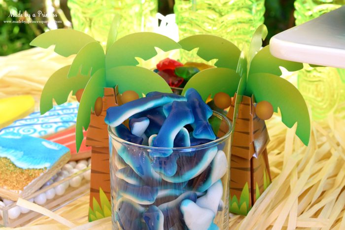 surfs up graduation party with evite favor boxes