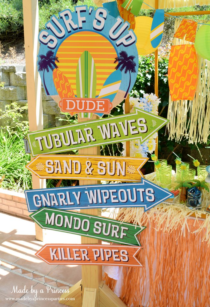 surfs up graduation party with evite surf sign