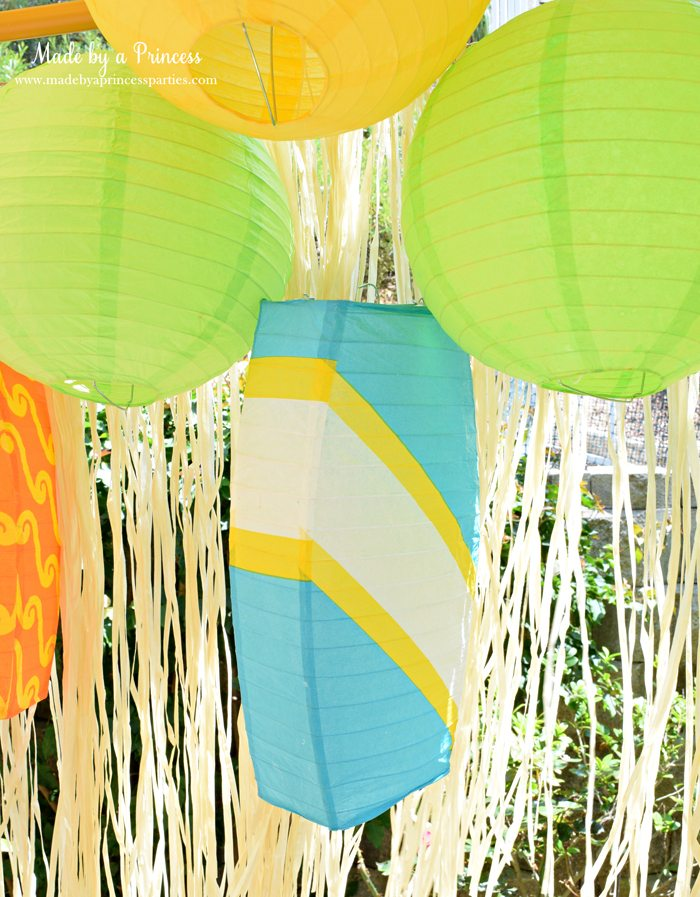 surfs up graduation party with evite surfboard lantern