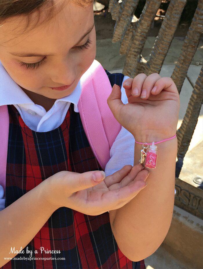 Back to School Mommy Magic Jitter Glitter Charm bracelet