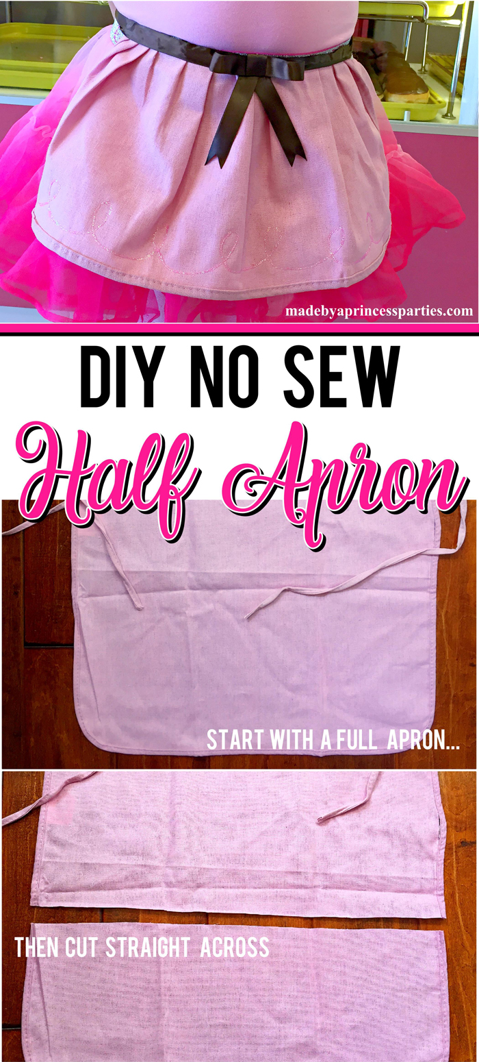 Create a cute apron for Halloween or dress up. Learn how to make this easy no sew half apron in less than 30 minutes
