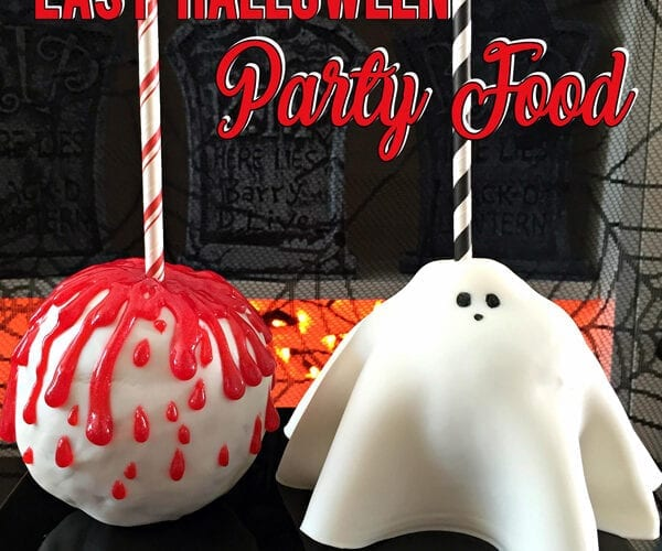 Spooky Easy Halloween Party Food Candy Apples