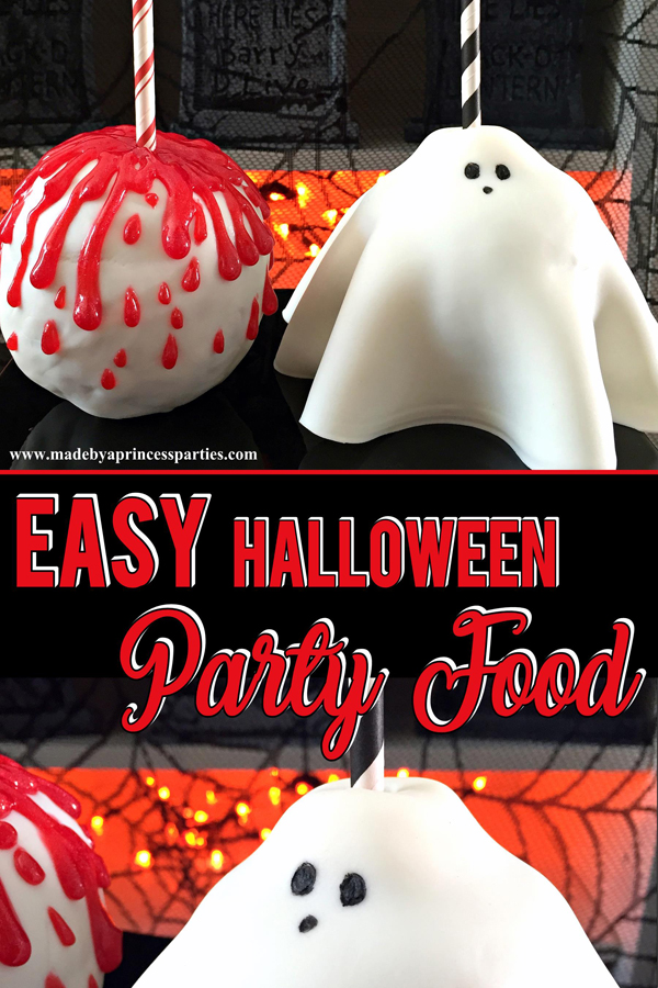 Spooky Easy Halloween Party Food you can create with your kids #halloweenpartyfood