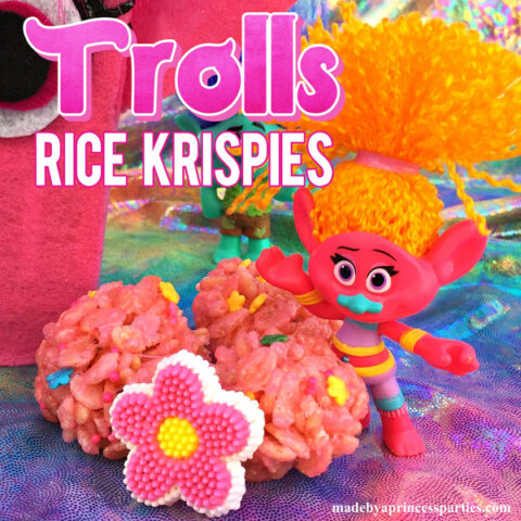 Trolls Movie Princess Poppy Pink Rice Krispie Treats