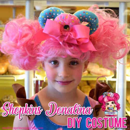 Look like an adorable Shoppie this Halloween. Follow these steps to create your own Shopkins Doll Costume just like Donatina