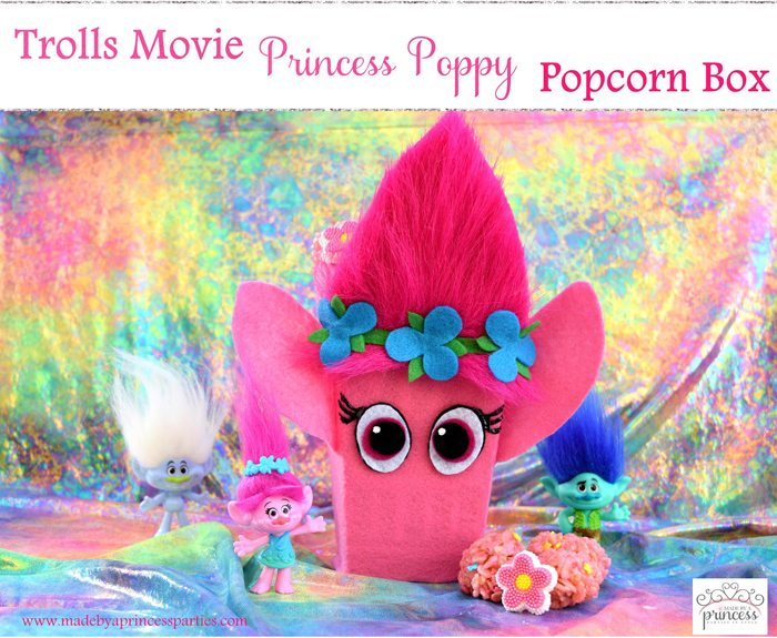 Trolls Movie Princess Poppy Popcorn Box