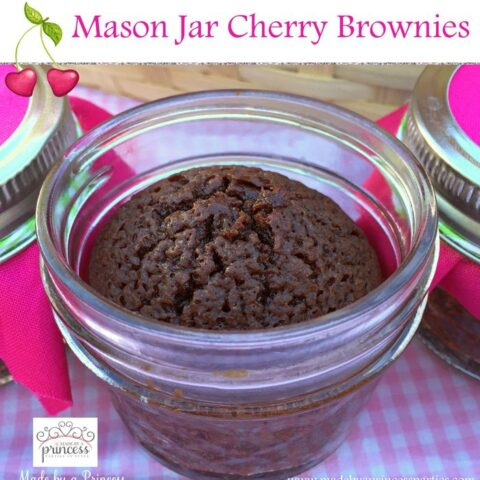 Mason Jar Cherry Brownies
