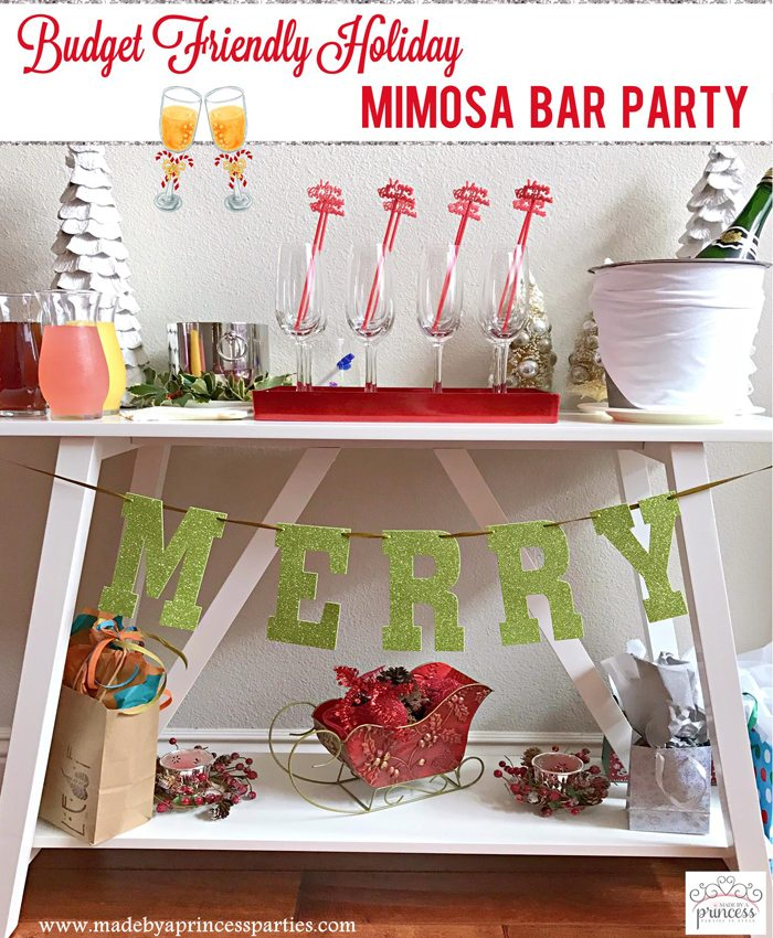 Budget Friendly Holiday Mimosa Bar Party