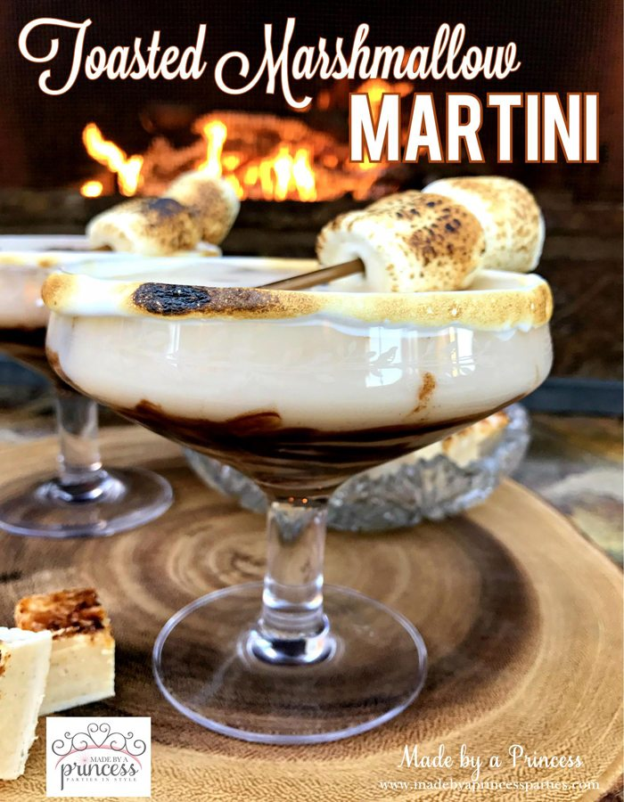 Dark Chocolate Toasted Marshmallow Martini