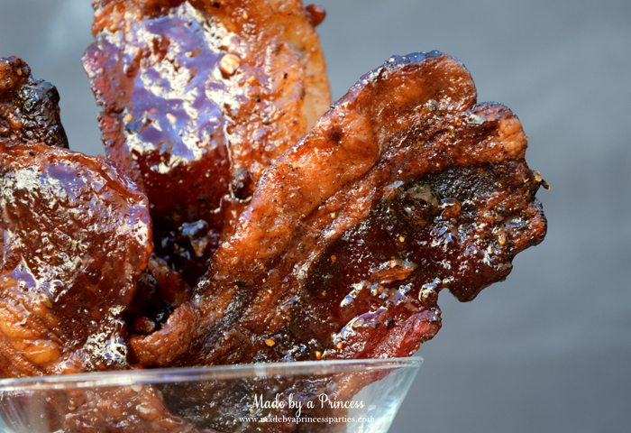 Man Candy Sweet Spicy Candied Bacon Recipe closeup of spices and sugar