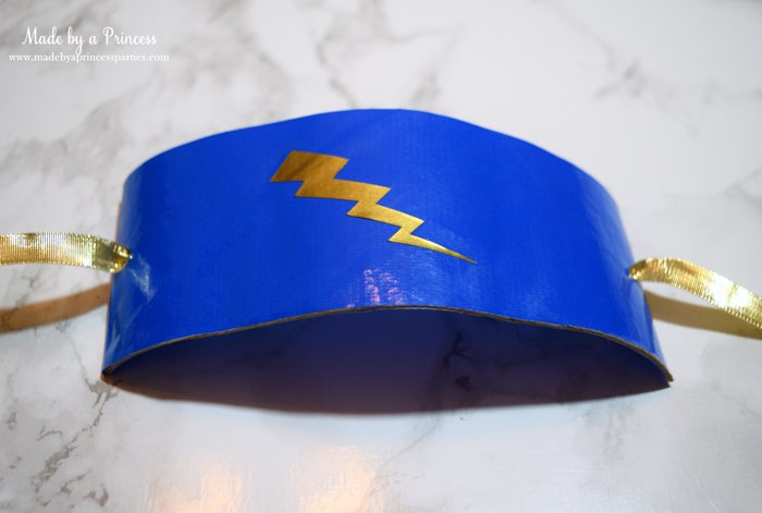 Party-Costume-Idea-How-to-Make-Superhero-Cuffs-add-vinyl-lightning-bolt