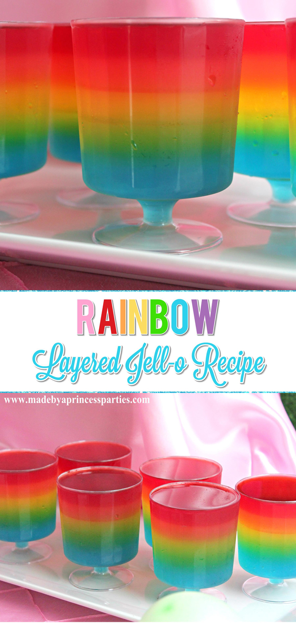 Unicorn Party Rainbow Jello Recipe Made By A Princess