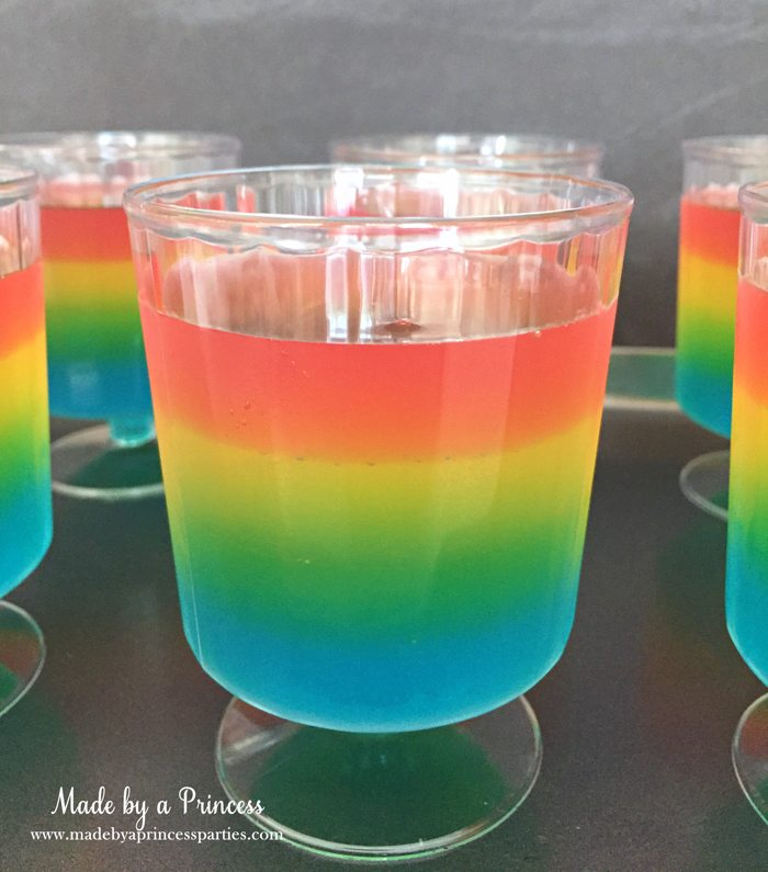 Unicorn Party Rainbow Jello Recipe watermelon pink fourth layer