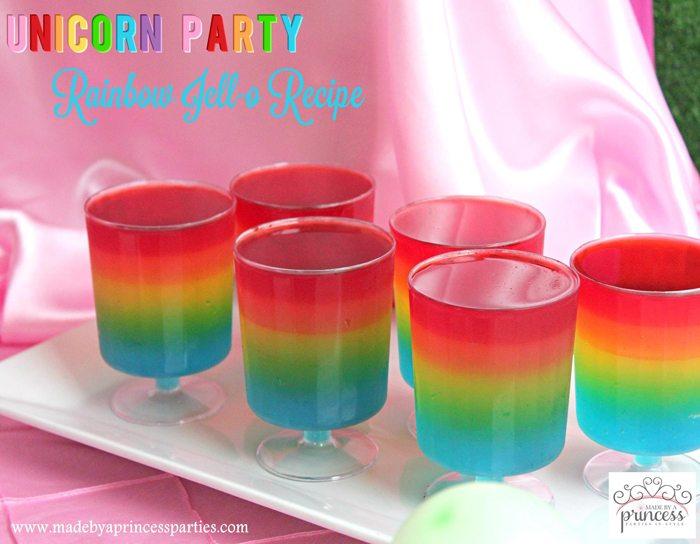 Unicorn Party Rainbow Jello Recipe