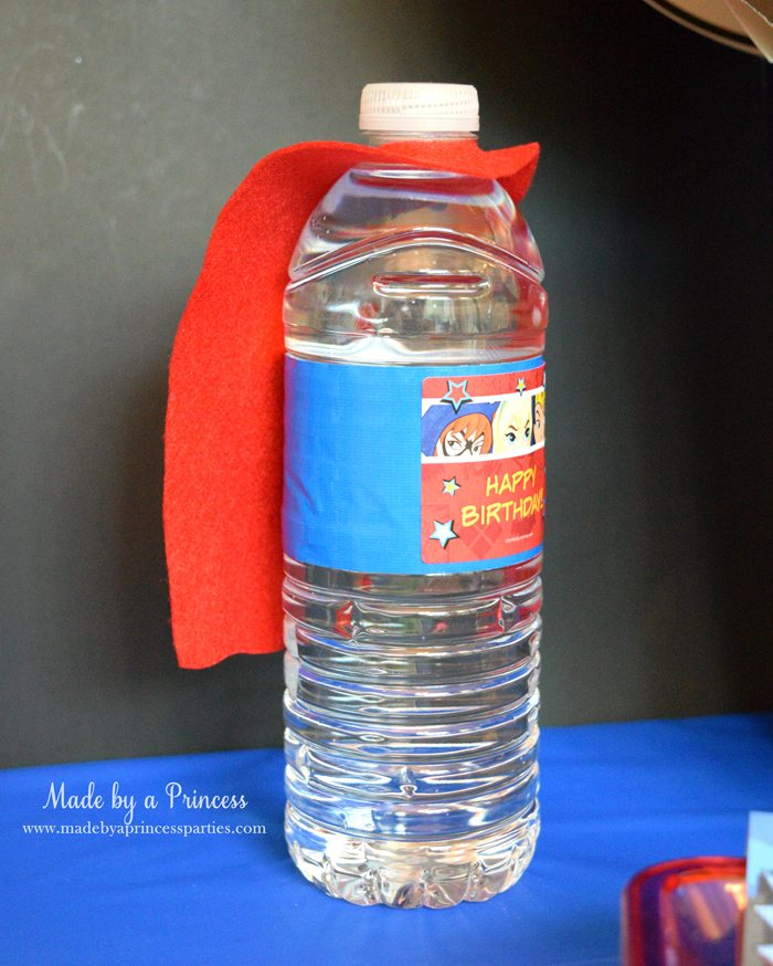 superhero-water-bottle-cape-party-idea-free-printable-use-colored-duct-tape-with-custom-label
