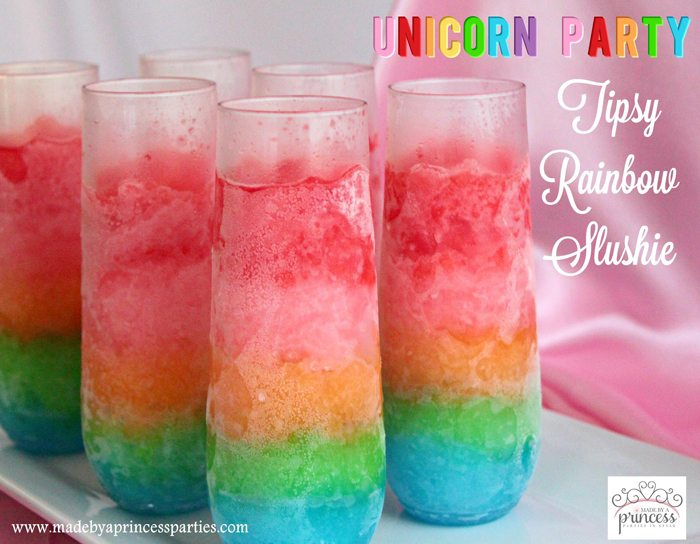Unicorn Party Tipsy Rainbow Slushie