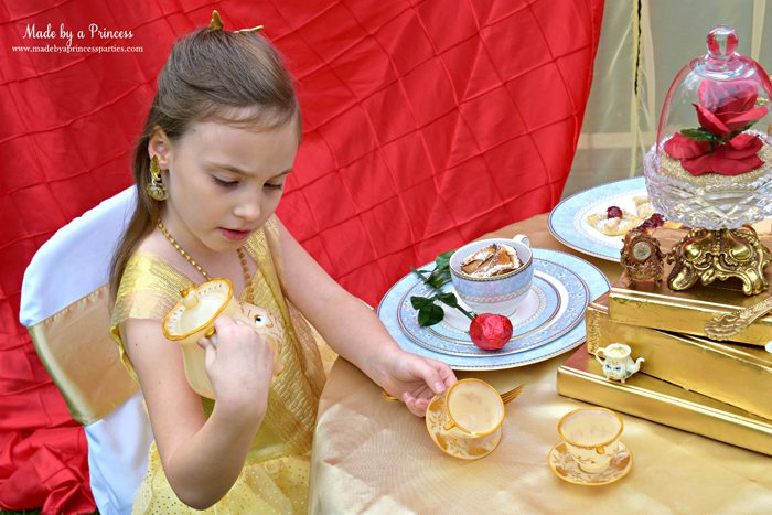 BEAUTY AND THE BEAST Themed Tea Party for Two. Belle discovering Mrs Potts' eyes move