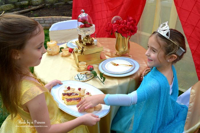 BEAUTY AND THE BEAST Themed Tea Party for Two includes macarons...of course!