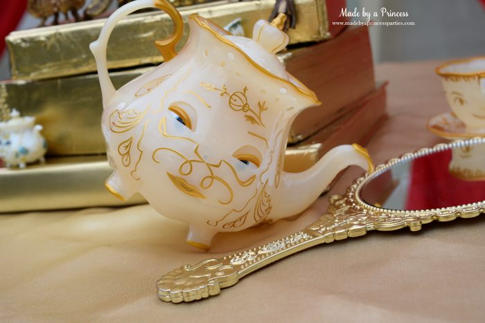 BEAUTY AND THE BEAST Themed Tea Party for Two Mrs Potts teapot