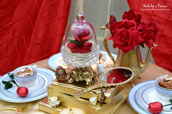 BEAUTY AND THE BEAST Themed Tea Party for Two tablesetting