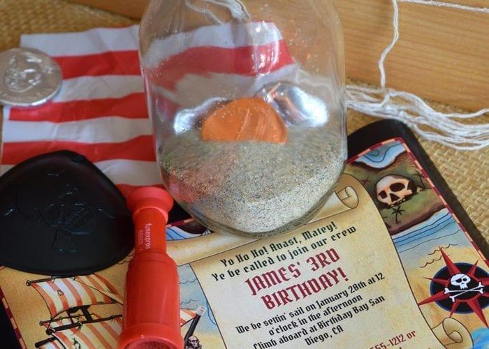 Pirate Bottle Invitations Party Idea