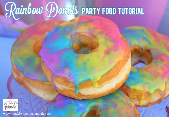 Rainbow Donuts Party Food Tutorial