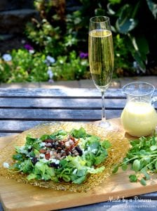 Fig Candied Pecan Gorgonzola Salad Honey Champagne Vinaigrette with champagne wm