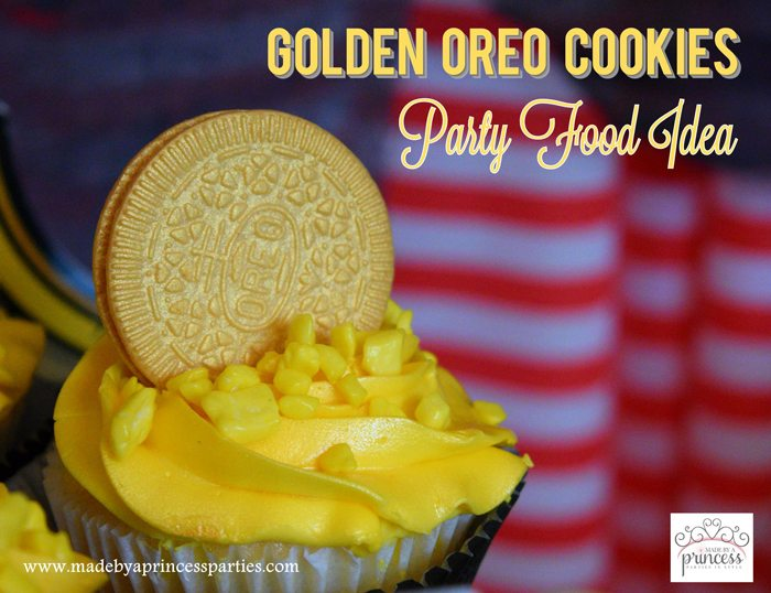 Gold Covered OREO Cookies Party Food Idea