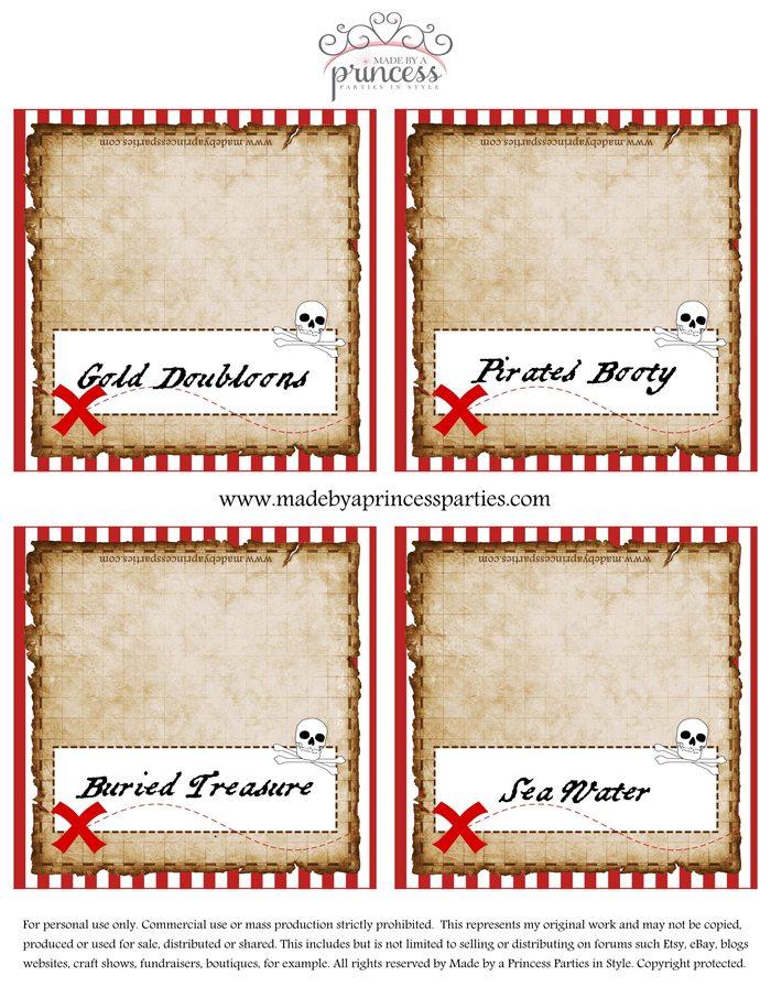 Pirate Party Food Tents Set 3 PDF.MadebyaPrincess