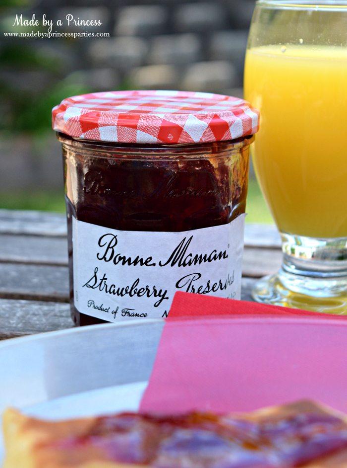 Savory Strawberry Preserves Toasted Coconut Almond Chicken Blintz Recipe bonne maman preserves