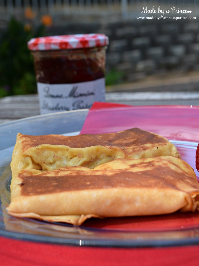 Savory Strawberry Preserves Toasted Coconut Almond Chicken Blintz Recipe eat alone or with preserves