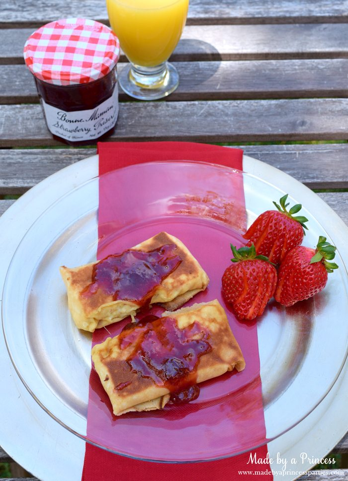 Savory Strawberry Preserves Toasted Coconut Almond Chicken Blintz Recipe perfect for mothers day breakfast
