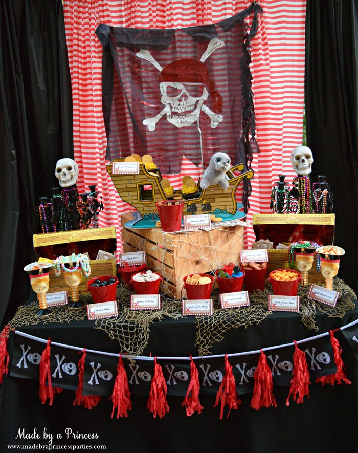 pirate party food free printables table