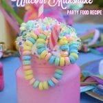 Cotton Candy Unicorn Milkshake Party Food Recipe