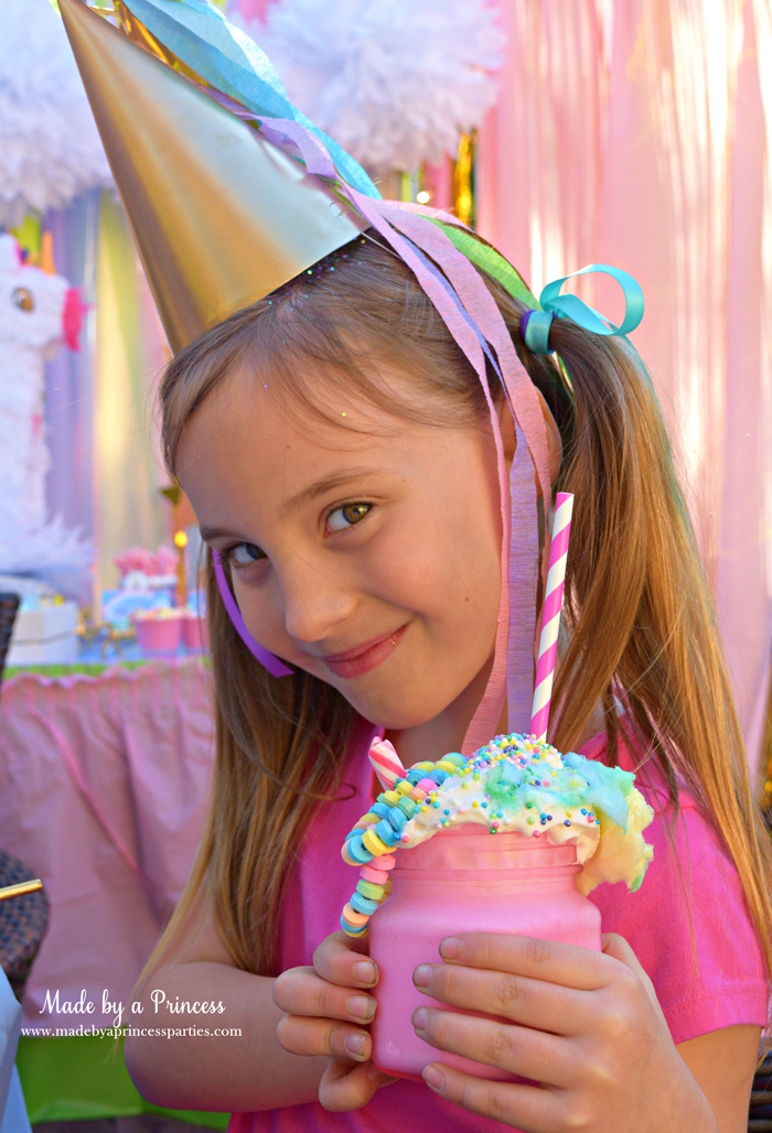 Cotton Candy Unicorn Milkshake Party Food Recipe your party guests will love this milkshake