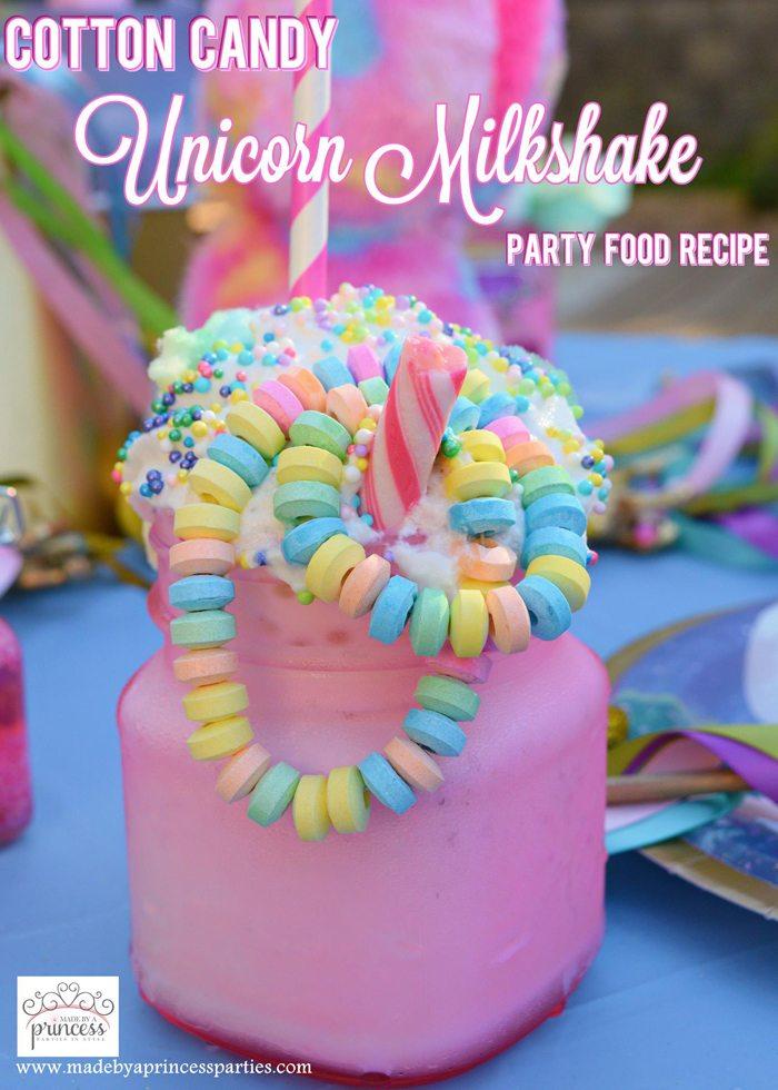 Enjoyable Cotton Candy Unicorn Milkshake Party Food Recipe Made By A Princess Funny Birthday Cards Online Hendilapandamsfinfo