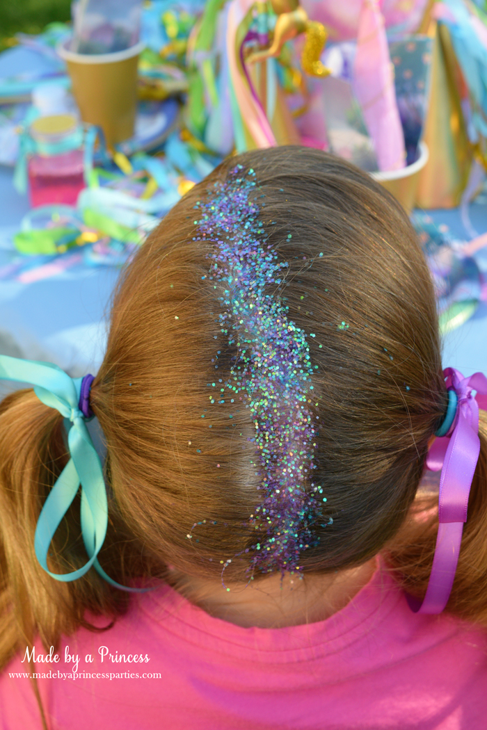 Create Sparkly Glitter Roots Hair Tutorial use multiple colors for ultra sparkle and shine effect