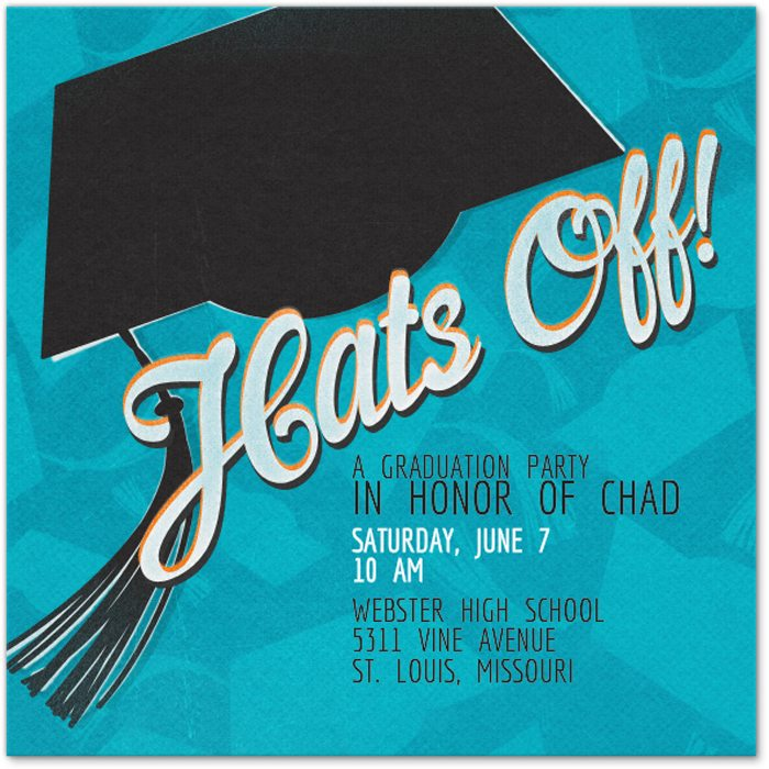 Easy Graduation Party Ideas evite invite
