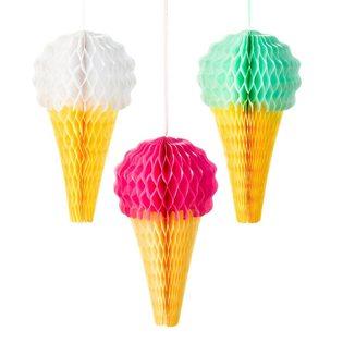 First Birthday Ice Cream Party Ideas honeycombs