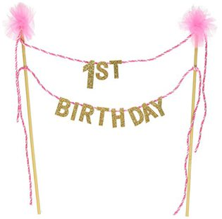 First Birthday cake banner