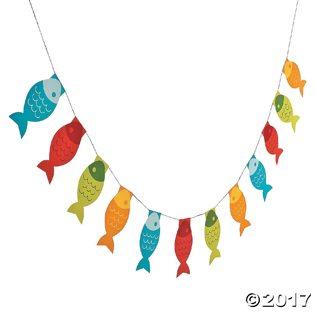 Fishing Baby Shower Ideas fish garland