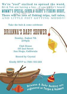 Fishing Baby Shower Ideas invitation