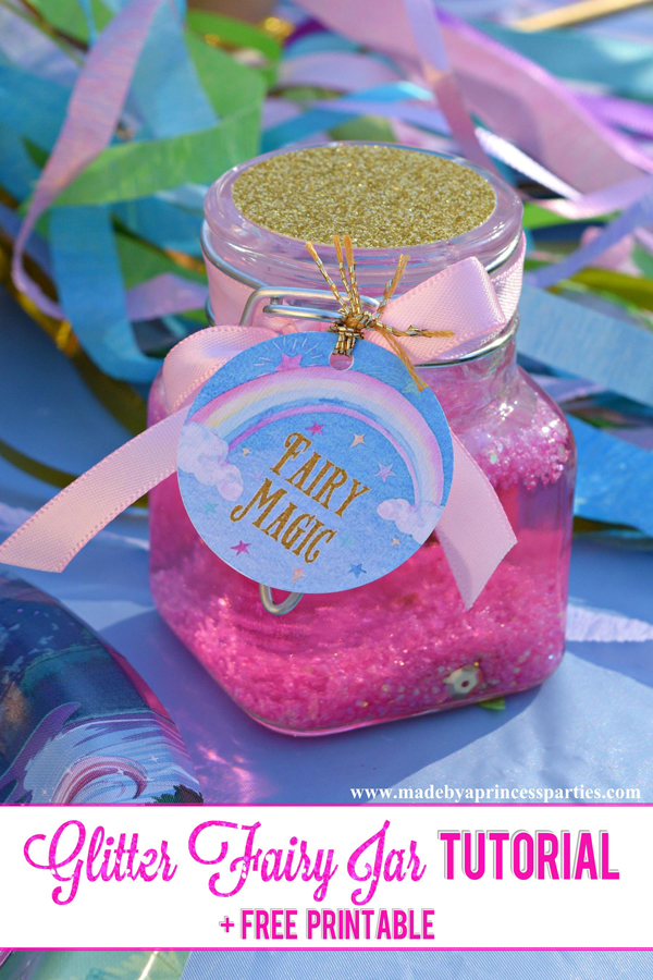 Glitter Fairy Jar Party Idea Tutorial Made By A Princess